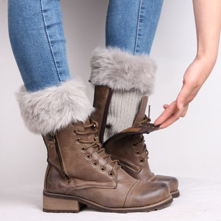 7 Colors 2016 New Hot Women Winter Fur Leg Warmers Fashion Faux Fur Warm Thick Boot Cuffs Ankle Knee Boot Socks Boot Toppers