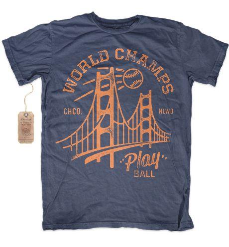 Charliegh Clothing Co. — WORLD CHAMPS - RINGSPUN COTTON CREW NECK T-SHIRT