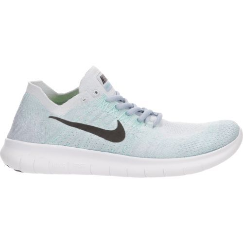 Nike Women's Free RN Flyknit 2017 Running Shoes (Blue Tint/Black/Cirrus Blue/Aurora Green, Size 9.5) - Women's Running Shoes at Academy Sports