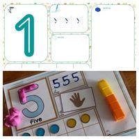 Voici des fiches pour travailler les chiffres et les nombres sous toutes leurs formes: pâte à modeler, écriture et dénombrement! A vos plastifieuses! (Idée trouvée sur Pinterest et Merci à...