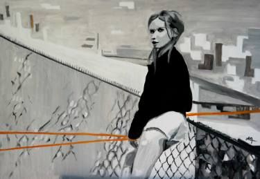 "Saatchi Art Artist Andreea Oprisan; Painting, ""Urban Girl - Strings"" #art #painting #urban"