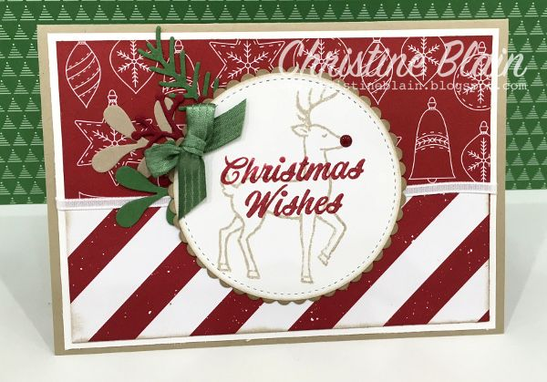 HAPPY HEART CARDS: THE HEART OF CHRISTMAS #5: STAMPIN' UP! SANTA'S SLEIGH & MERRY MISTLETOE
