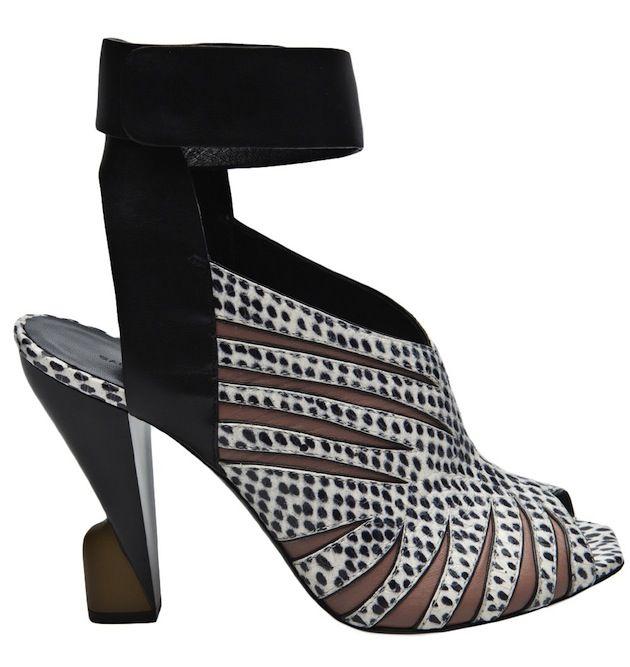 Balenciaga Animal Print Heeled Sandals