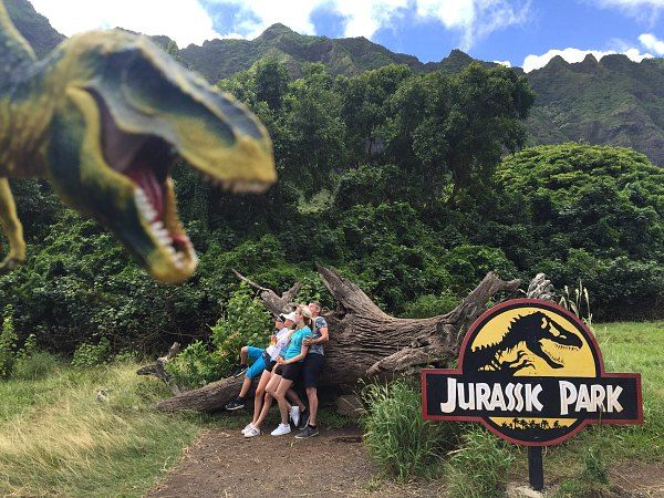 Jurassic Park, Jurassic World, T-Rex, Dinosaur, Hawaii, Oahu, Kualoa Ranch, Movie Tour, VIP Movie Tour, Family Activities in Oahu