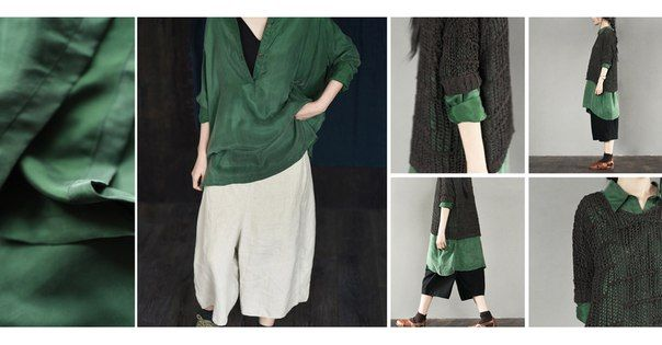 Shafran green long shirt