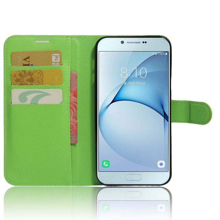 Luxury Litchi Texture Leather Case for Samsung Galaxy A8 2016 Flip Cover Case Wallet Style Magnetic Phone Case With Card Slot