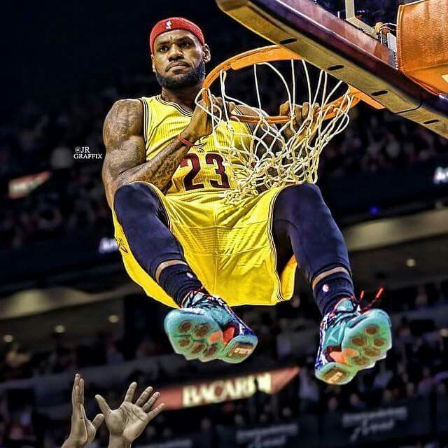 "Lebron...life ""above"" the rim!"
