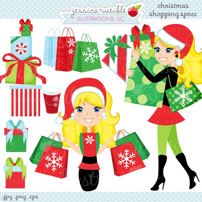 Christmas Shopping Spree Blonde Cute Digital Clipart, Commercial Use OK, Woman Shopping Clipart, Shopping Graphics by JWIllustrations on Etsy https://www.etsy.com/uk/listing/169583913/christmas-shopping-spree-blonde-cute