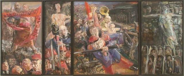Bernhard Heisig: A hadsereg helyreállítja a nyugalmat és a rendet (A párizsi kommün 1871)