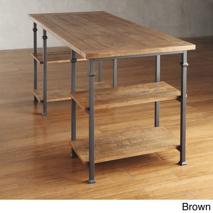 @Overstock - TRIBECCA HOME Myra Vintage Industrial Modern Rustic Oak Storage Desk - This Myra desk has a weathered, timeworn patina, allowing traces of natural wood and original colors to show through. The frame of this home office furniture is made of black sand metal with two shelves to provide storage.  http://www.overstock.com/Home-Garden/TRIBECCA-HOME-Myra-Vintage-Industrial-Modern-Rustic-Oak-Storage-Desk/7883916/product.html?CID=214117 CAD              636.95