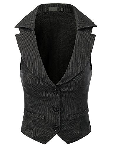 Save $14.32 on Doublju Women Wear to work Stretchy Button Down Vest; only $19.99