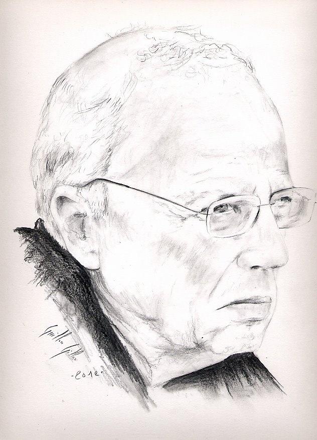 Dessin au crayon   Thierry Roland