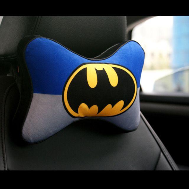 Soft Cartoon Printed Car Seat Neck Support Memory Foam Car Headrest Supports Auto Supplies Auto Safety Batman Neck Cushion #Affiliate