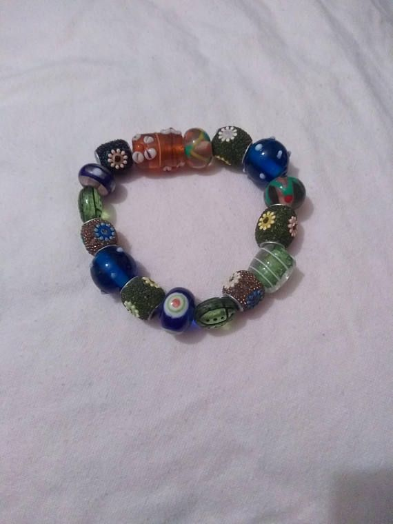 Hand made beautiful beaded bracelet, unique piece of jewelry. Would make a lovely mothers day gift