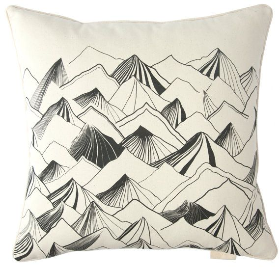 This mountain pillow is a perfect addition to a nature nursery! For more~ follow Bitzy Baby! #bitzybaby