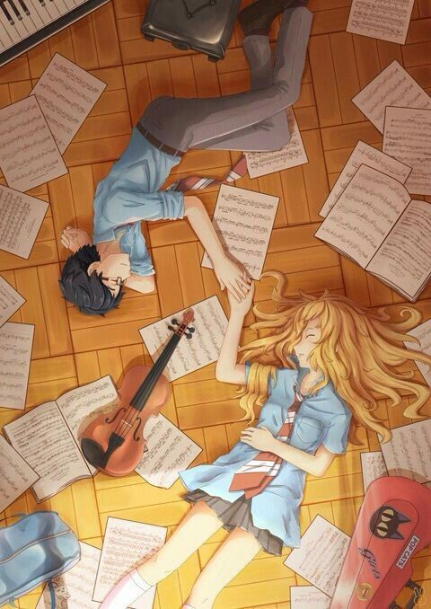 Love and Music-Your lie in April ❤️