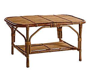 Een prachtige rieten tafel voor in de tuin | Westwing