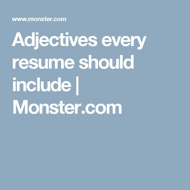 Best 25+ Resume adjectives ideas on Pinterest Bridget powers - creative writing resume