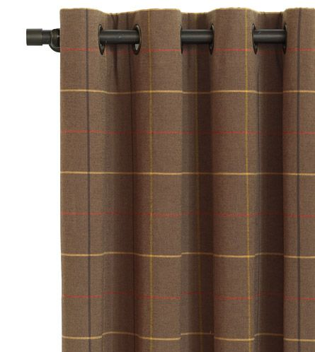 Donoghue Brown Curtain Panel From Eastern Accents