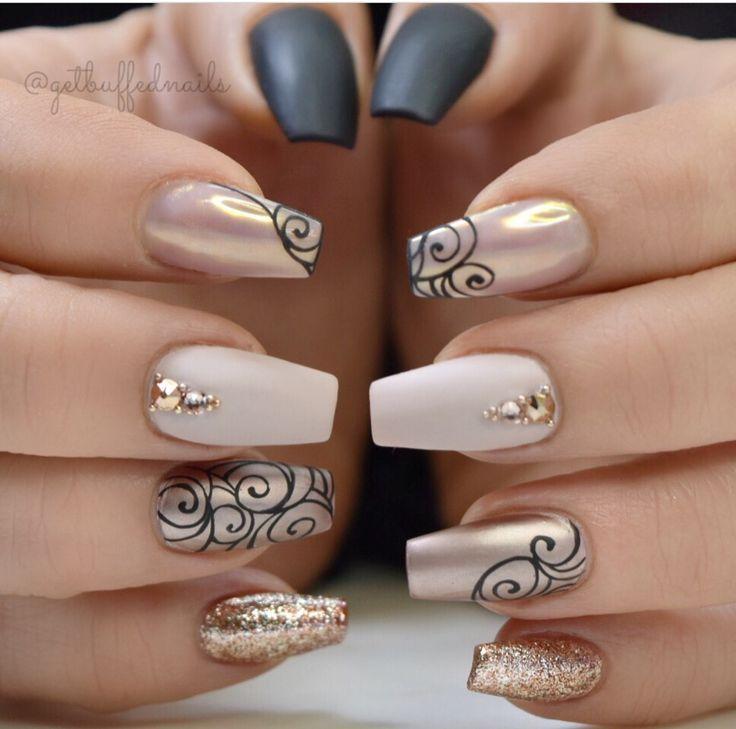 Mehrfarbige Nägel: Neuer Trend und beste Designs – nails art