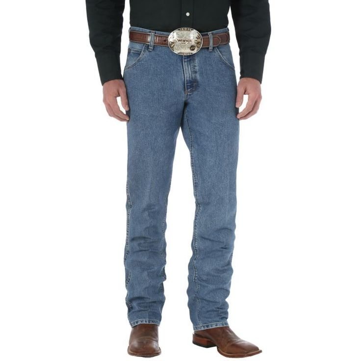 Wrangler Men's Cool Vantage Cowboy Cut Jeans, Size: 38, Grey