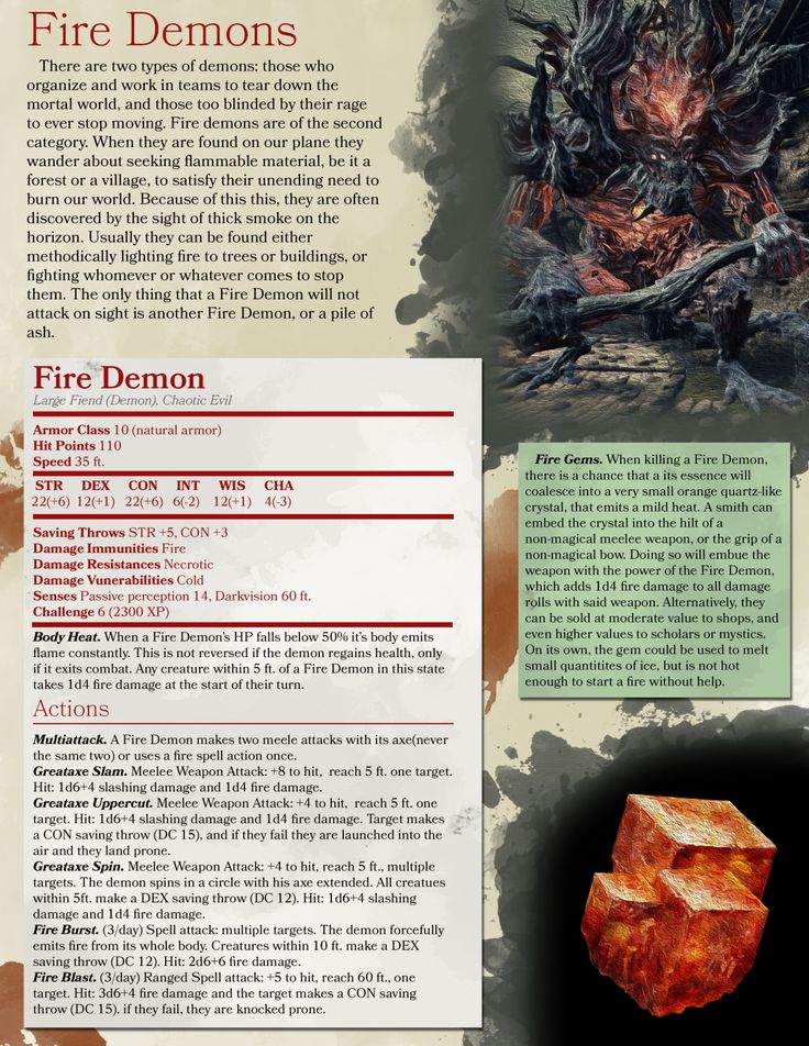 DnD 5e Homebrew — Dark Souls 3 monsters by ALVIG