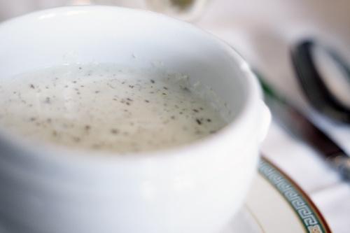 Imagine the morning's first cappucino foam....