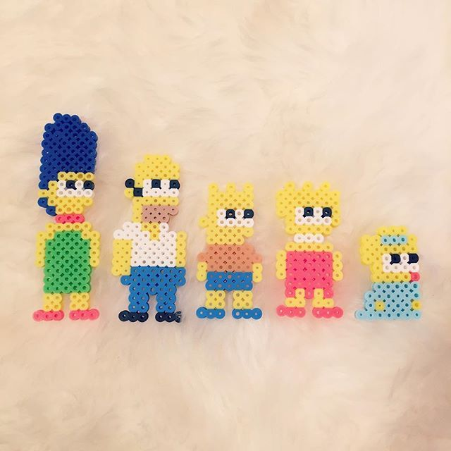 The Simpsons perler beads by beadaholics