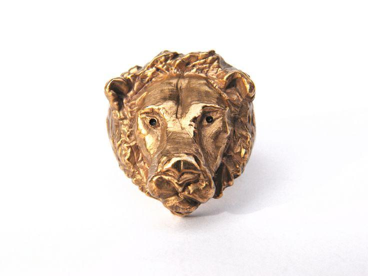 Löwe Ring Silber Feingold plattiert von SOMNI auf DaWanda.com