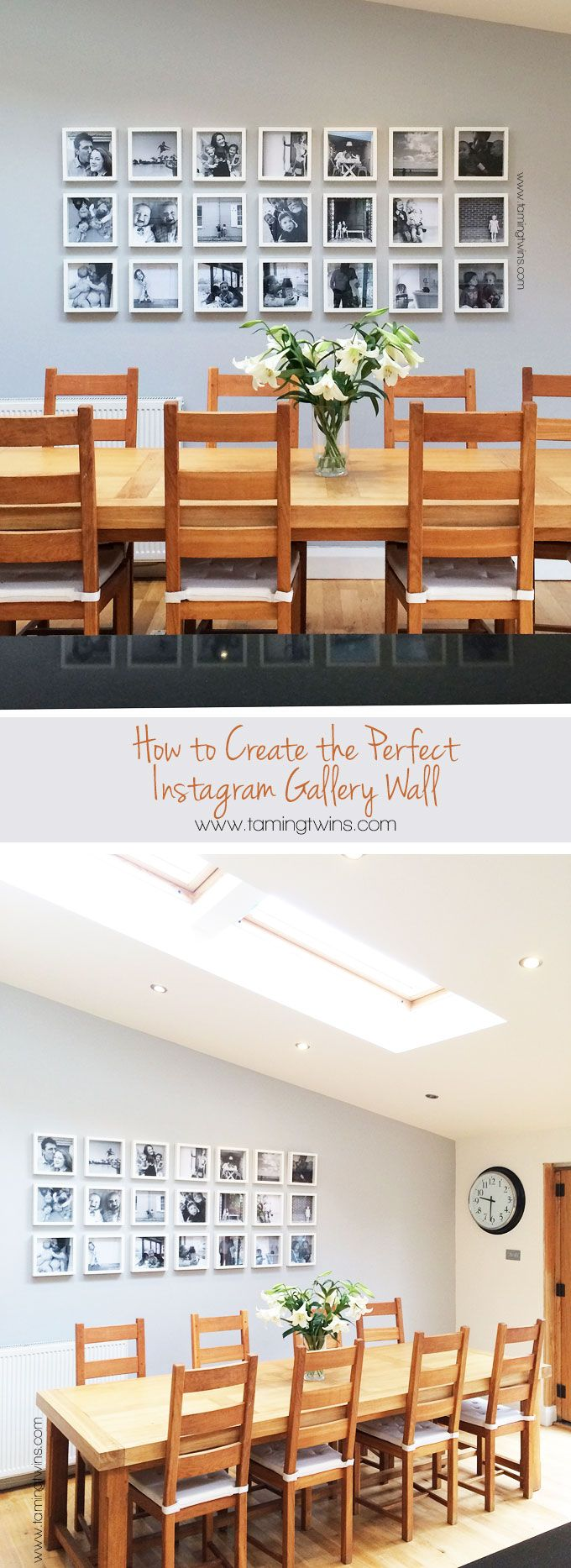 How to create the perfect Instagram gallery wall (using Ikea frames!) Tips and tricks for getting the perfect finish. | TamingTwins.com http://www.tamingtwins.com