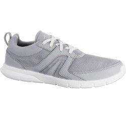 Soft 100 női sportgyalogló cipő, világosszürke