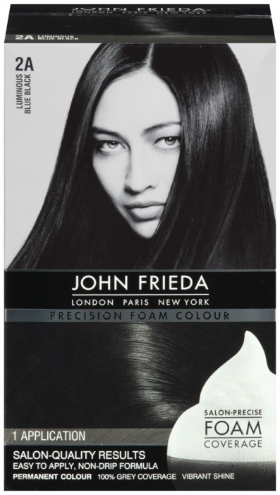 John Frieda Hair Color Precision Foam Luminous Blue Black loooooove it!