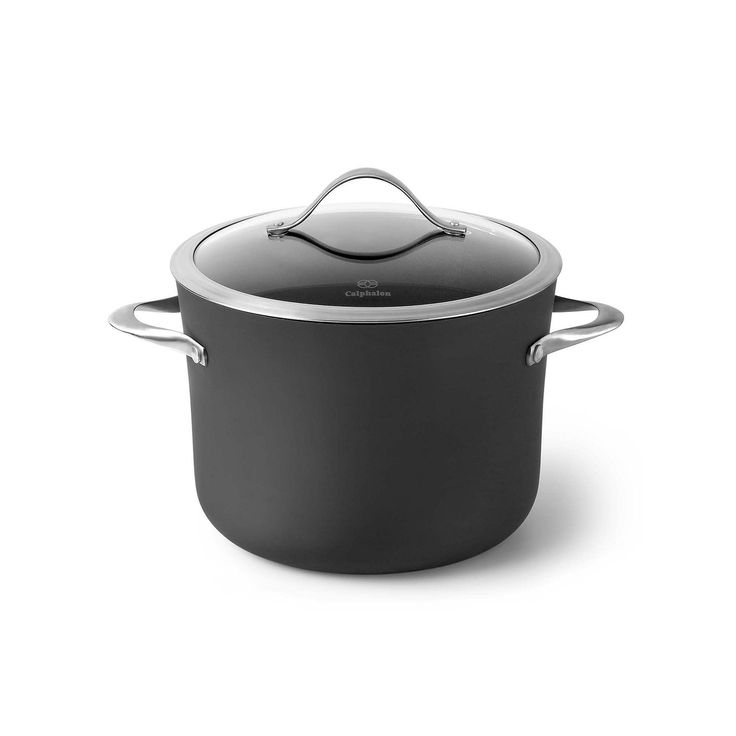 Calphalon Contemporary Nonstick 8-qt. Hard-Anodized Covered Stockpot, Grey