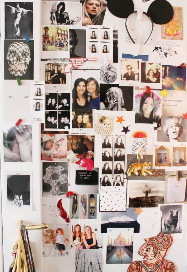 inside closet