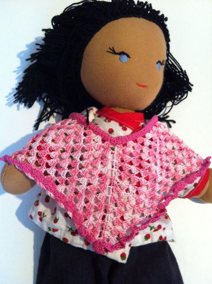 Poncho d'été poupée fait main en coton : Jeux, jouets par by-vaness