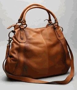 Luscious brown leather purse