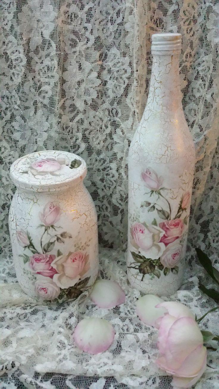 Botella y frasco estilo antiguo