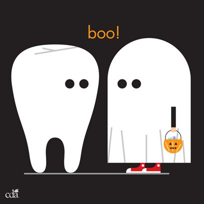 Boo! Happy Halloween from all of us at CDA. #halloween #teeth #ghost