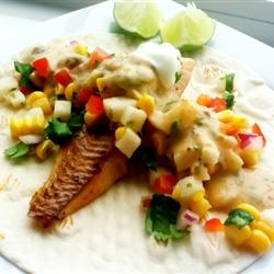 Fiery Fish Tacos with Crunchy Corn Salsa Allrecipes.com