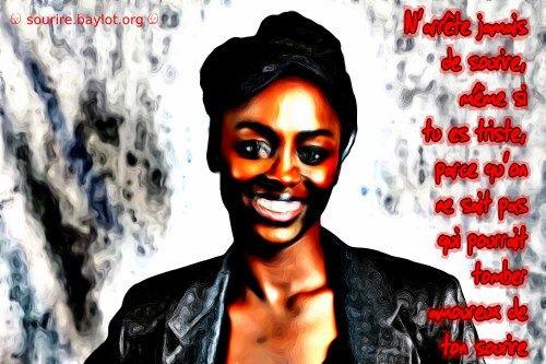 N'arrête jamais de sourire  #fr   #tristesse   #joie   #amour   #sourire    http://frederic.baylot.org/post/3515-sourire