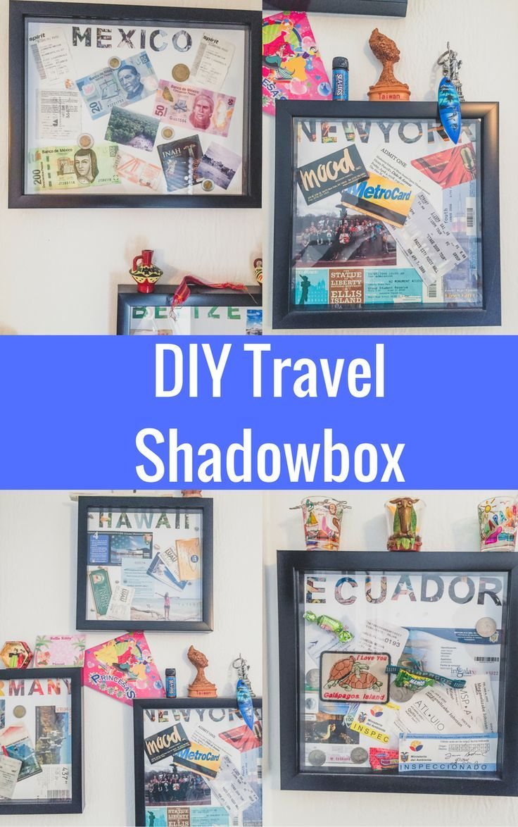 DIY Travel Shadow Boxes