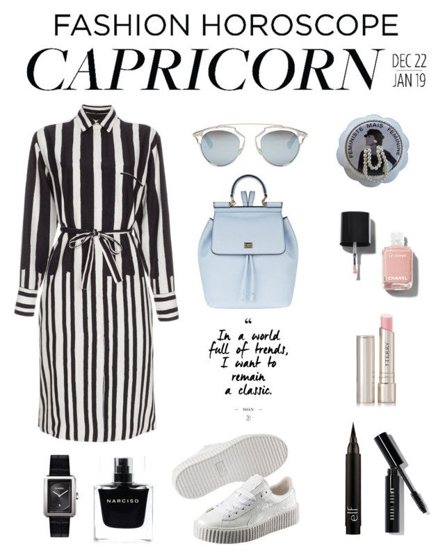 capricorn by mina-nurminen on Polyvore featuring polyvore fashion style Paul Smith Puma Dolce&Gabbana Chanel Christian Dior Bobbi Brown Cosmetics By Terry Narciso Rodriguez clothing