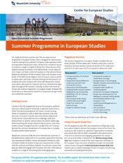 Summer Programme in European Studies