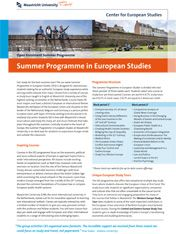 Summer Programme in European Studies