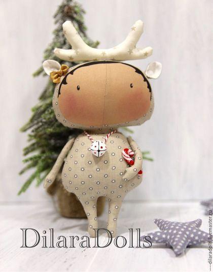 Купить или заказать тильда куколка в интернет-магазине на Ярмарке Мастеров. Тильда куколка в костюме оленя, прекрасный подарок на Нов…