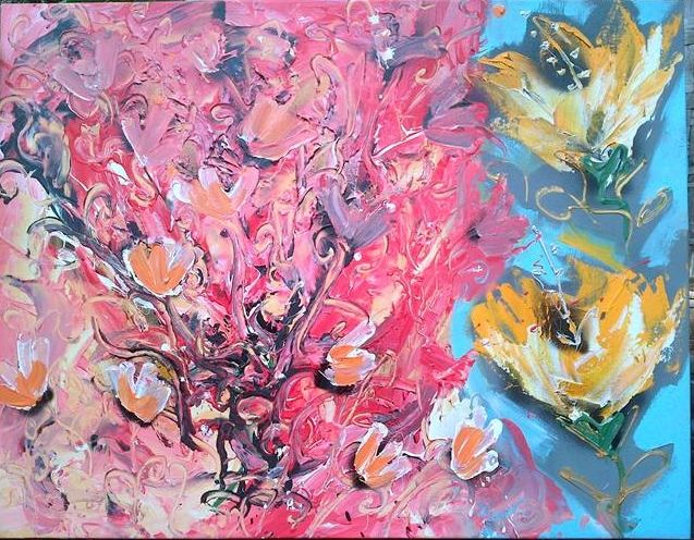 abtract flower, oil on canvas, 70x90 cm