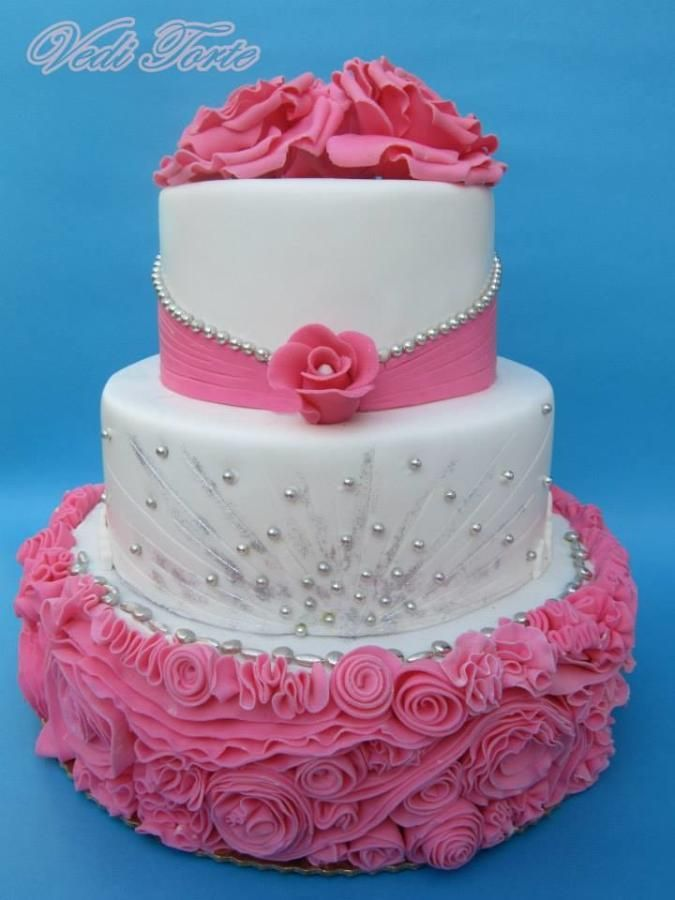 rosebush cakes | Southern Blue Celebrations: Over 25 Beautiful Pink Wedding Cake Ideas