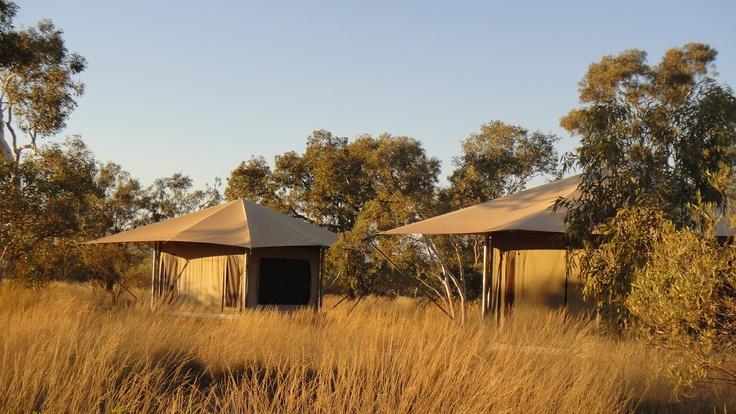 Feeling like a little luxury? ...Eco Tents at #Karijini National Park not too shabby :)