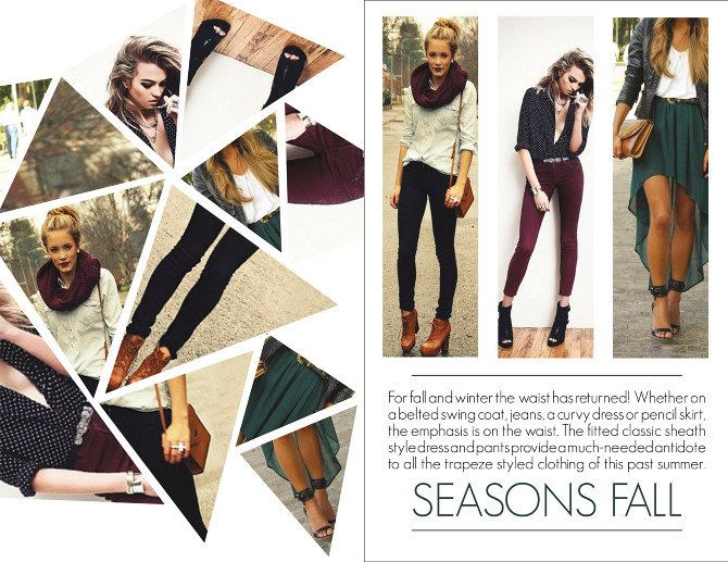 Layout Fashion Magazine Layout Pinterest