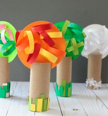 Toilet paper roll 4 season tree - easy craft for kids // Négy évszak fa wc papír gurigából - kreatív ötlet gyerekeknek // Mindy - craft tutorial collection // #crafts #DIY #craftTutorial #tutorial